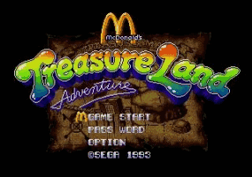 McDonalds Treasure Land Adventure Title Screen